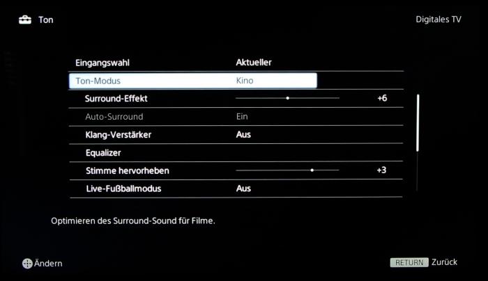 Sony KD55X8505 Screenshot 23