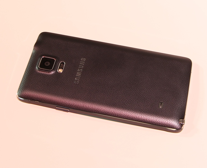Samsung Galaxy Note 4 Rueckseite Seitlich