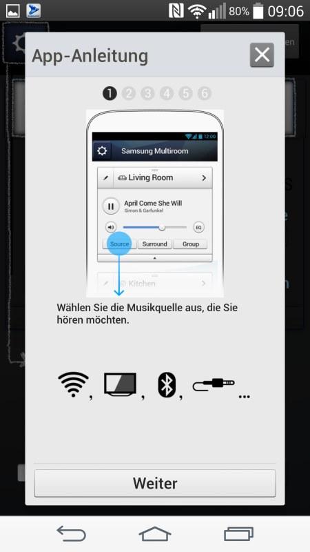 Samsung Multiroom Android Screenshots App Anleitung 1