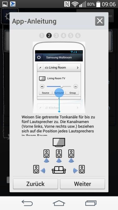 Samsung Multiroom Android Screenshots App Anleitung 2