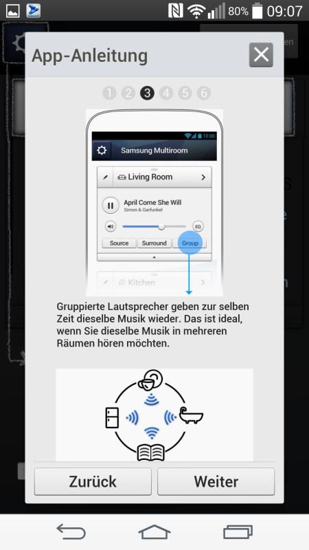 Samsung Multiroom Android Screenshots App Anleitung 3
