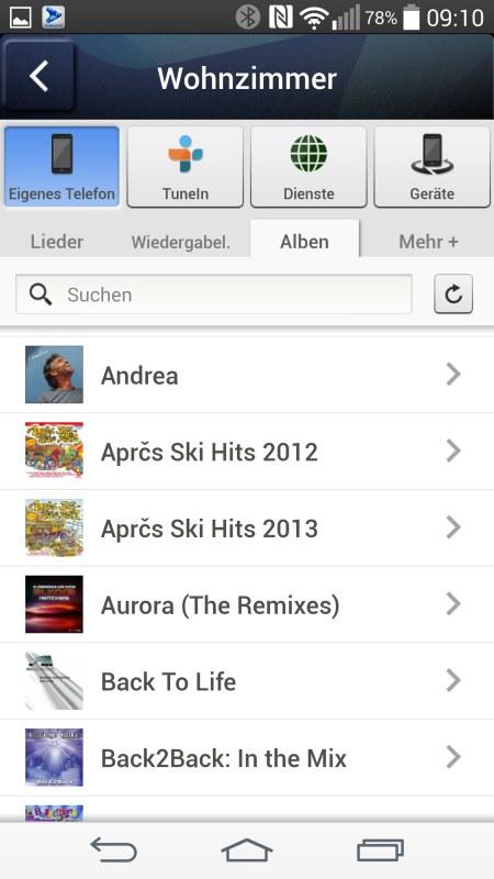 Samsung Multiroom Android Screenshots Music Handy