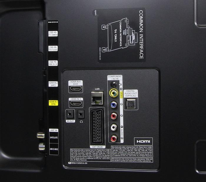 Samsung UE55H6470 Anschluesse Ruekseite1