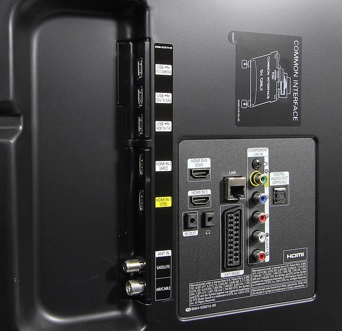 Samsung UE55H6470 Anschluesse Ruekseite2