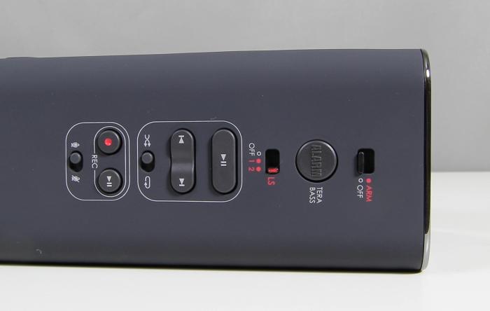Creative Soundblaster ROAR Bedienelemente Rueckseite