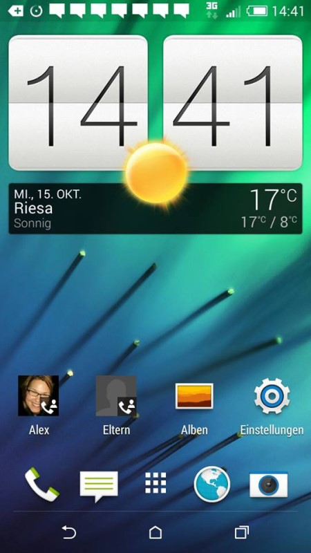 HTC One mini 2 Startmenü