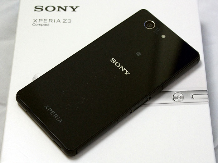 Sony Xperia Z3 Compact Rueckseite Seitlich