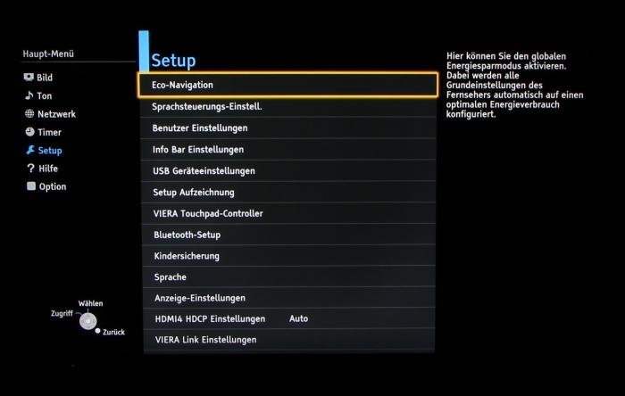 Panasonic TX-P65AXW804 Screenshot 28