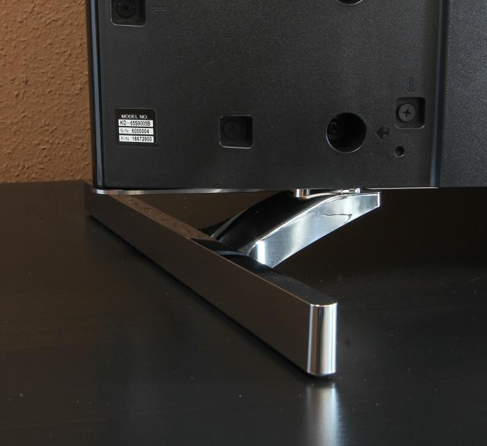 Sony KD65S9005 Standfuesse Rueckseite