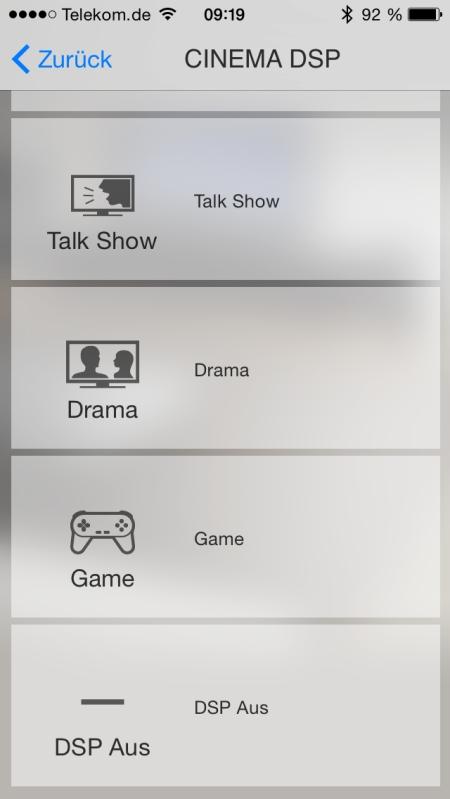 Yamaha HT Controller App 5