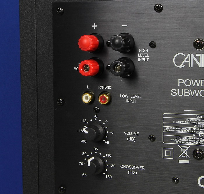 Canton Movie 95 Subwoofer Anschluesse Bedienelemente