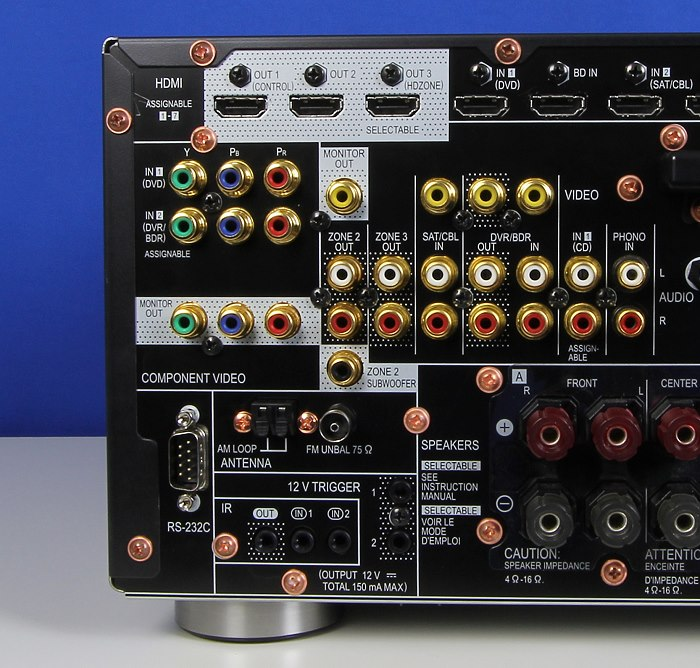 Pioneer SC-LX88 Anschluesse Rueckseite2