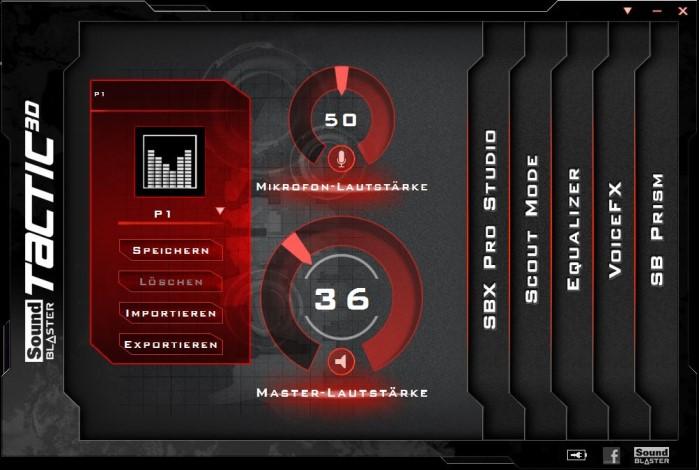 Creative Sound Blaster Systemsteuerung 1