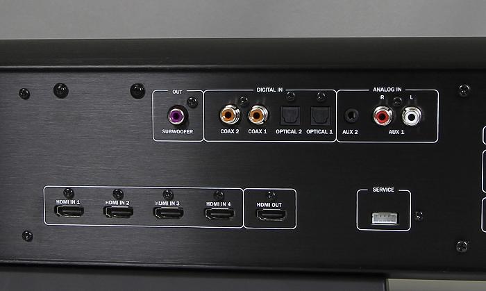 Teufel Cinebar52 THX Soundbar Anschluesse Rueckseite