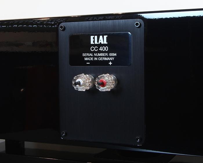 Elac CC 400 Anschluesse Rueckseite