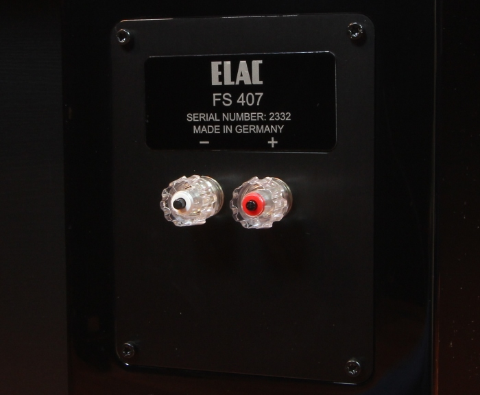 Elac FS 407 Anschluesse Rueckseite