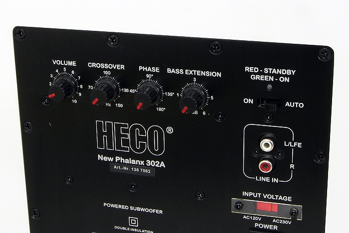 Heco Celan GT Set New Phalanx 302A Bedienelemente