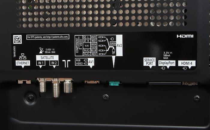 Panasonic TX-65AXW904 Anschluesse Rueckseite2