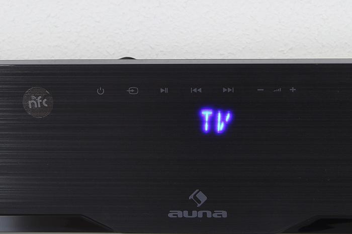 Auna Areal Bar 850 Soundbar Bedienelemente Display