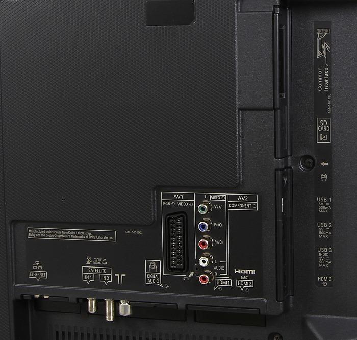 Panasonic TX-49CXW754 Anschluesse Rueckseite Gesamt