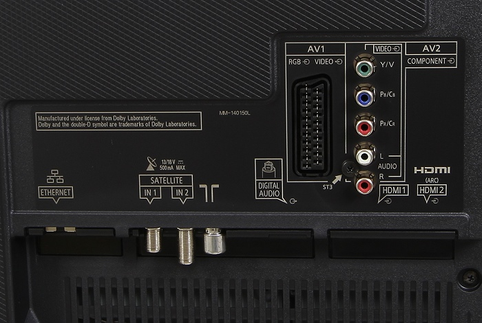 Panasonic TX-49CXW754 Anschluesse Rueckseite1