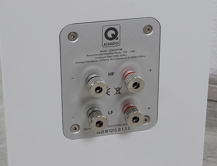 Q Acoustics Concept 40 Anschluesse
