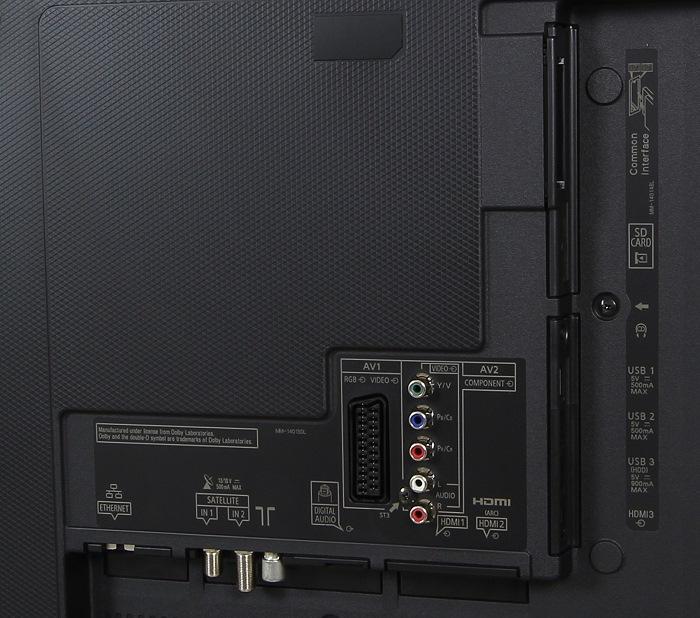 Panasonic TX-55CXW754 Anschluesse Rueckseite Gesamt