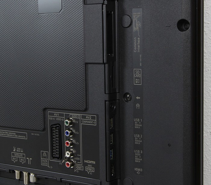Panasonic TX-55CXW754 Anschluesse Rueckseite1