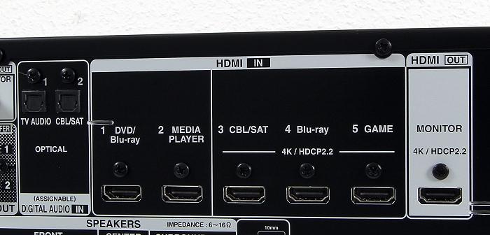 Denon AVR-X520BT Anschluesse Rueckseite2