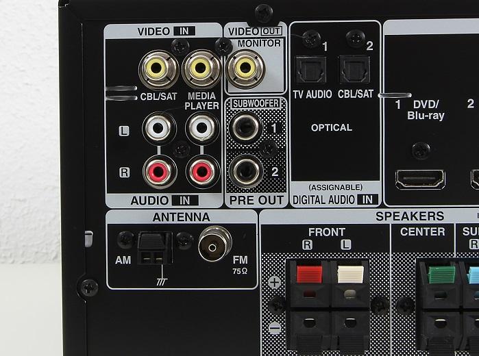 Denon AVR-X520BT Anschluesse Rueckseite3