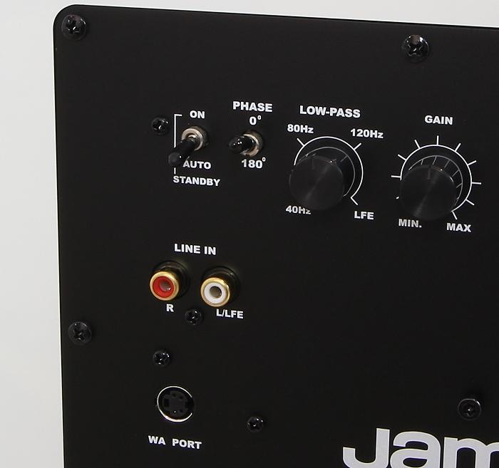 Jamo J 112 Sub Anschluesse Bedienelemente