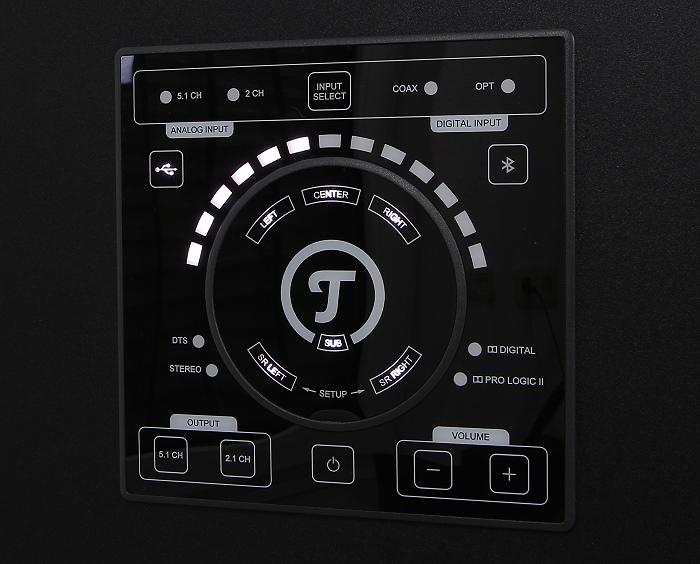 Teufel Concept E450 Digital CM2014SW Bedienelemente Front