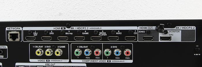 Denon AVR-X3200W Anschluesse Rueckseite4