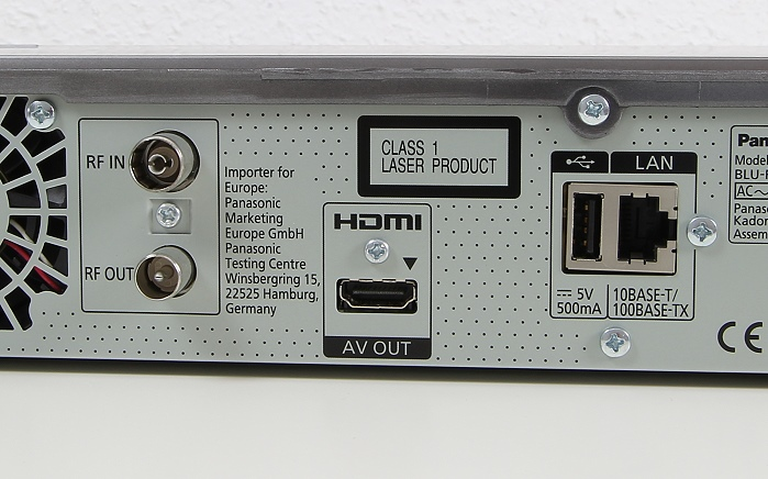 Panasonic DMR-BCT855 Anschluesse Rueckseite1