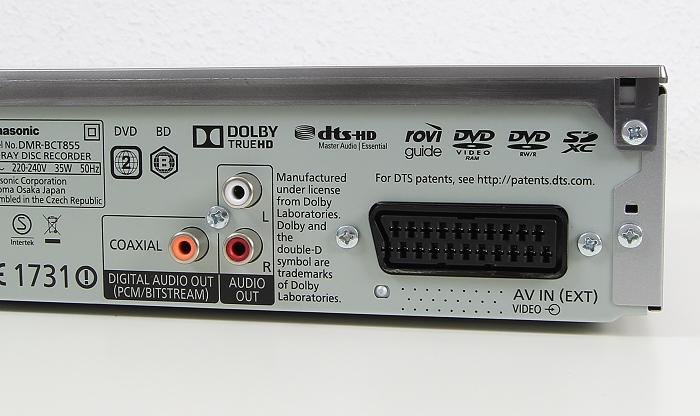 Panasonic DMR-BCT855 Anschluesse Rueckseite2