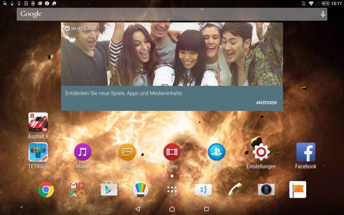 Sony Xperia Z4 Tablet Screenshot