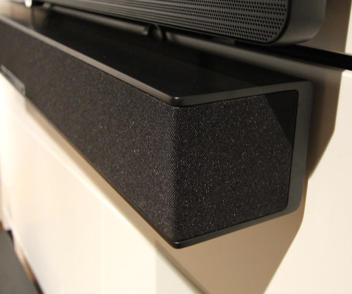 Raumfeld Soundbar schwarz Detail