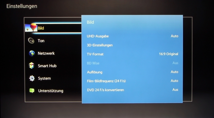 Samsung BD-J7500 Screenshot 9