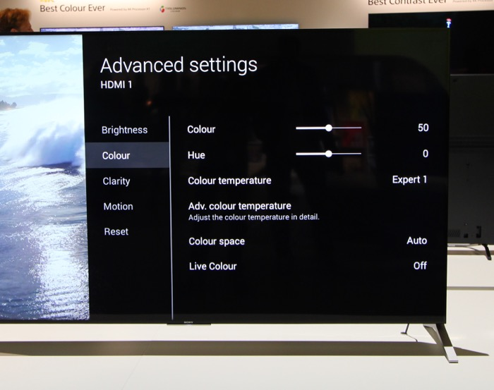 Sony KD-75X91C VideoEQ Advanced 2
