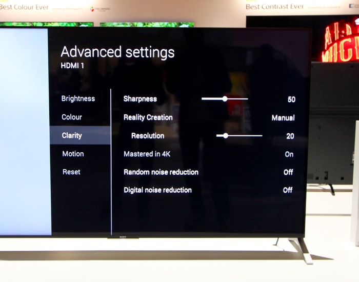 Sony KD-75X91C VideoEQ Advanced Clarity