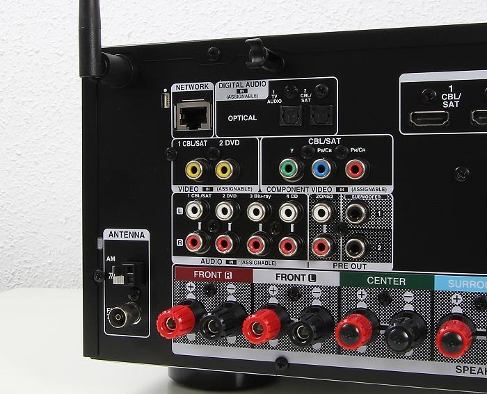 Denon AVR-X2200W Anschluesse Rueckseite2