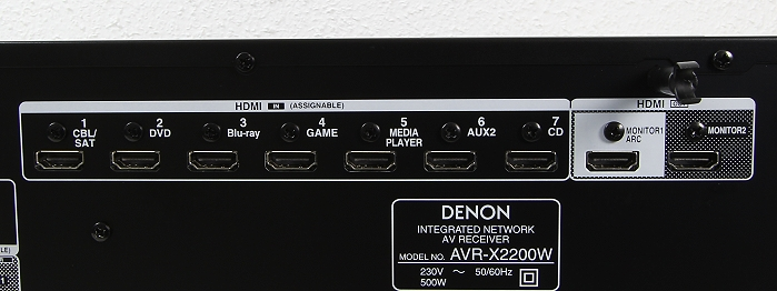 Denon AVR-X2200W Anschluesse Rueckseite3