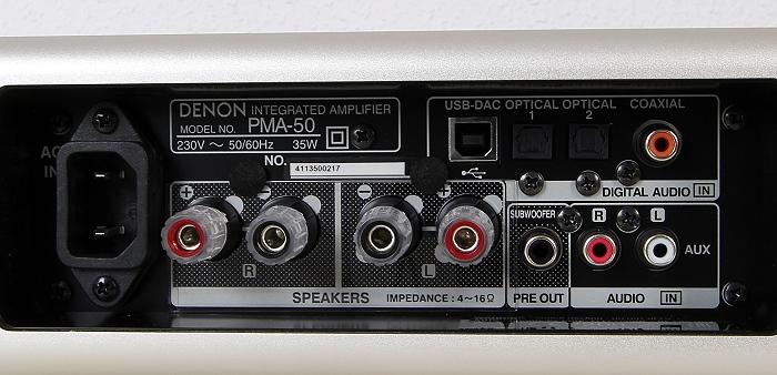 Denon PMA-50 Anschluesse Rueckseite