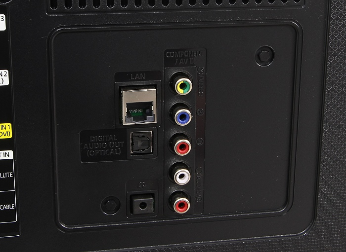 Samsung UE50JU6850 Anschluesse Rueckseite1
