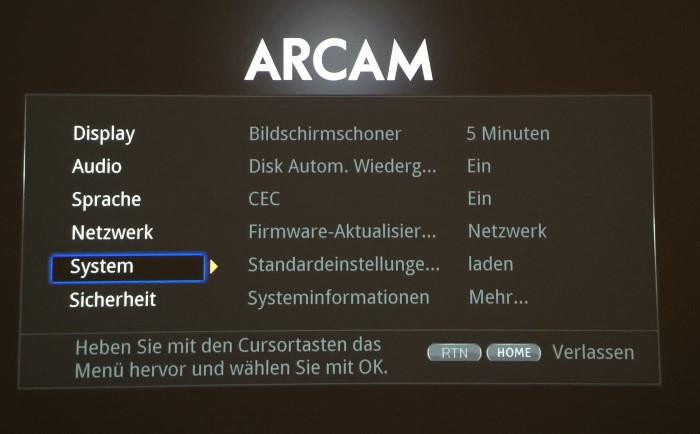 arcam_udp411_menu4