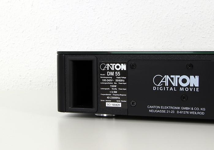 Canton DM 55 Bassreflexoeffnung
