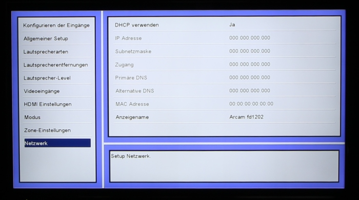 Arcam AVR550 Screenshot 12