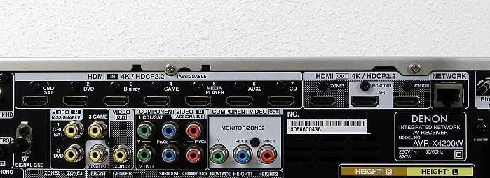Denon AVR-X4200W Anschluesse Rueckseite3