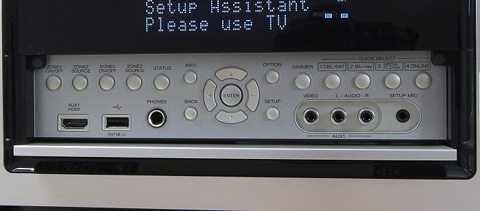 Denon AVR-X4200W Bedienelemente Frontklappe