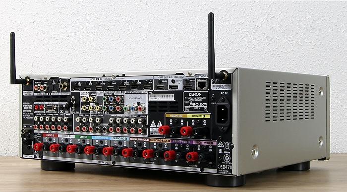 Denon AVR-X4200W Rueckseite Seitlich2